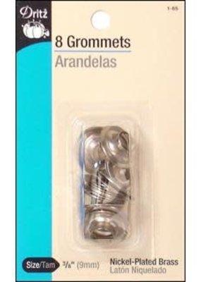 """Dritz Dritz Grommets 3/8"""" Nickel 8pc"""