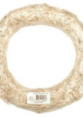 "Floracraft Floracraft Straw Wreath 12"" Clear Wrap"