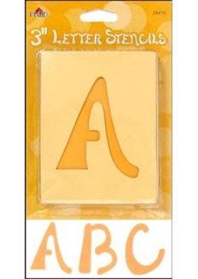 Plaid Plaid Stencil Paper Letter Upper 3 Inch Swashbuckle