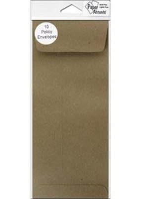 Paper Accents Envelopes #10 Policy Brown Bag 10 Piece Pack
