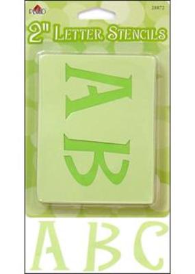 "Plaid Plaid Stencil Paper Letter Upper Case 2"" Genie"