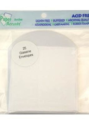 Paper Accents Envelope 3.5 x 3.5 25 Pack Glassine