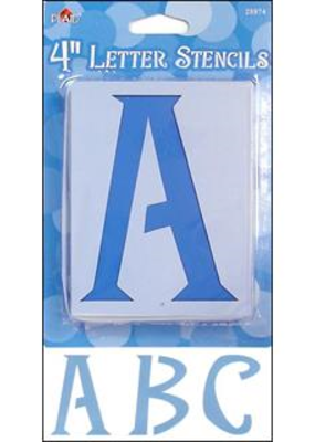 "Plaid Plaid Stencil Paper Letter Upper Case 4"" Genie"