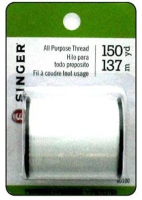 Singer Singer Thread All Purpose Poly 150 Yard White