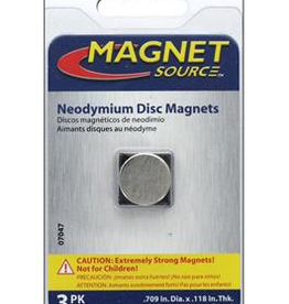The Magnet Source Magnet Neodymium Disc 5/8 Inch 3 Piece Pack