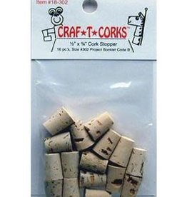 Hearts & Crafts Hearts & Crafts Craf-T-Cork Stopper 16 Pack  .5 x .75 Inch
