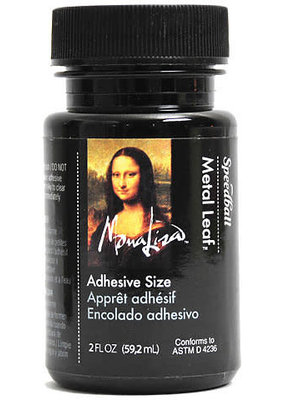 Mona Lisa Gold Leaf Adhesive Size 2 Ounce