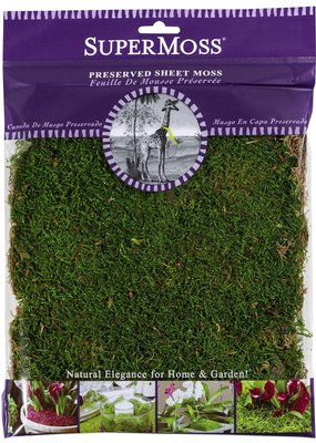 Super Moss SuperMoss Sheet Moss 2oz Package Green