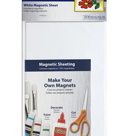 The Magnet Source Magnet Sheet White 5 x 8