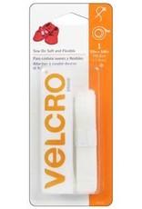 """Velcro Velcro Sew On Soft & Flexible Tape 5/8x30"""" White"""