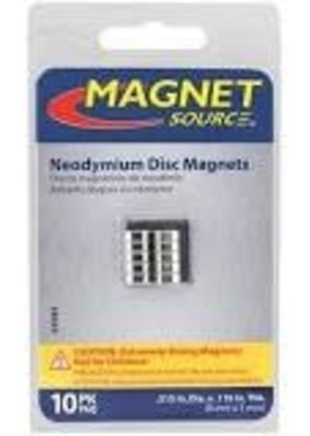 The Magnet Source Magnet Neodymium Disc 1/3 Inch 10 Piece Pack