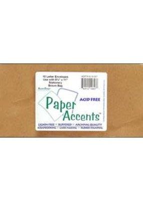 Paper Accents Envelope #10 Letter 10 Pack Brown Bag
