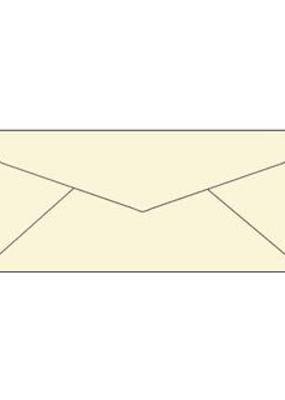 Paper Accents Envelopes #10 Letter 25pc Cream