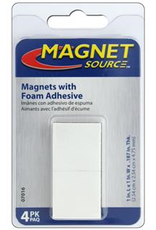 The Magnet Source Magnet 1 Inch Square With Foam Adhesive