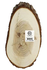 Sierra Pacific Crafts Wood Slices Oval 12.5 Inches