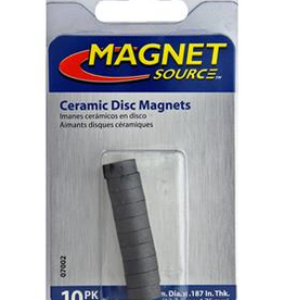 The Magnet Source Magnet Ceramic Disc 1/2 x 3/16 inch 10 Piece Pack