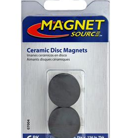 The Magnet Source Magnet Ceramic Disc 1 Inch 6 Piece Pack