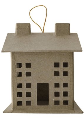 PA Essentials Paper Mache 3D House Small Style B