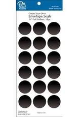 Paper Accents Envelope Seals 1 1/8 Inch 18 Piece Black
