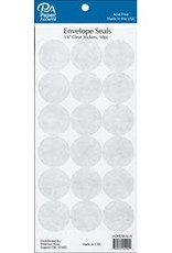 Paper Accents Envelope Seals 1 1/8 Inch 18 Piece Clear