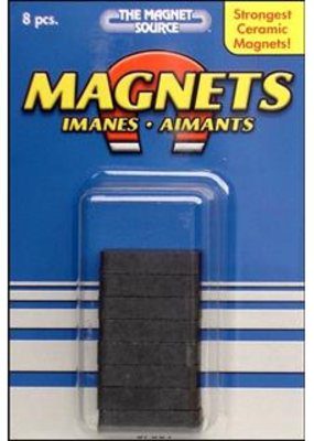The Magnet Source Magnet Ceramic Block 8 Pieces
