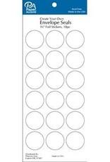 Paper Accents Envelope Seals 1 1/8 Inch 18 Piece White