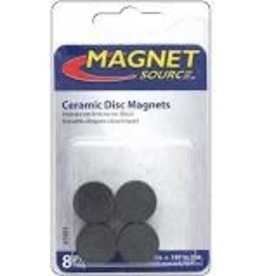 The Magnet Source Magnet Ceramic Disc 3/4 Inch 8 Piece Pack