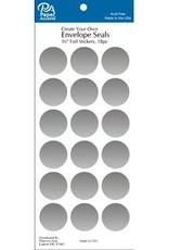 Paper Accents Envelope Seals 1 1/8 Inch 18 Piece Silver Foil