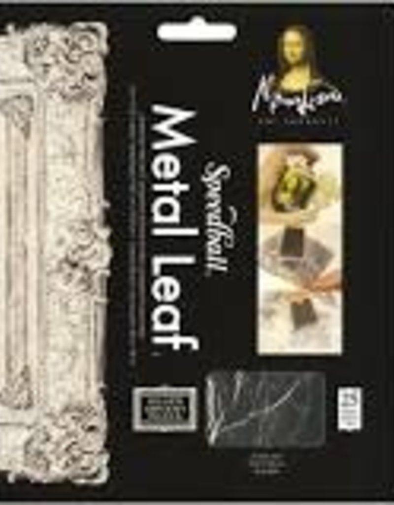 Mona Lisa Metal Leaf Silver 5.5 x 5.5 Inch 25 Sheets