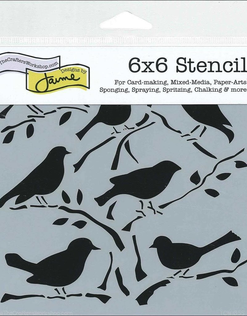 The Crafter's Workshop 6 X 6 Stencil Birds