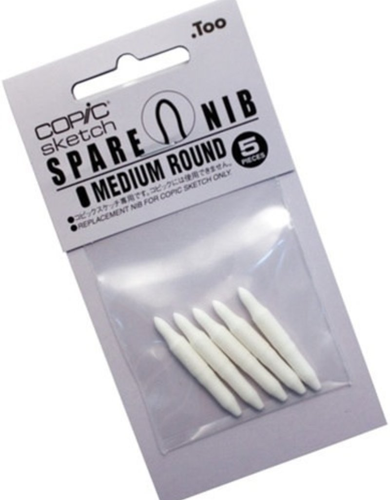 Copic Copic Medium Round Replacement Nibs 5 Piece Pack