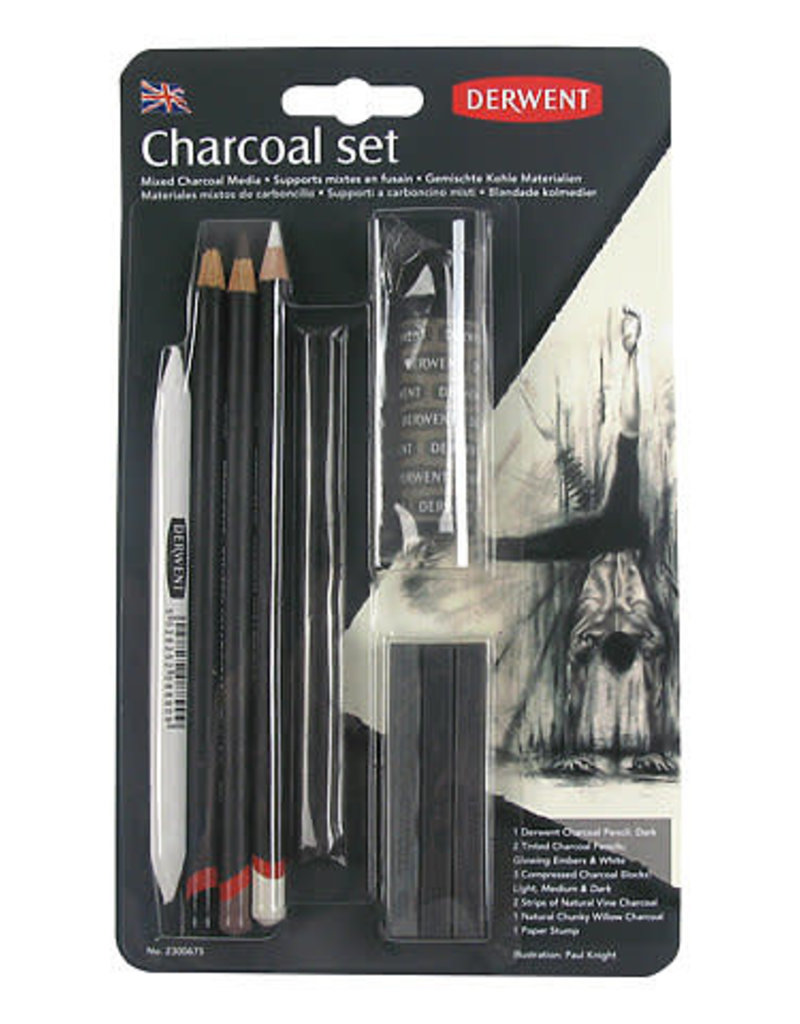Derwent Charcoal Drawing Set 10-Piece Set