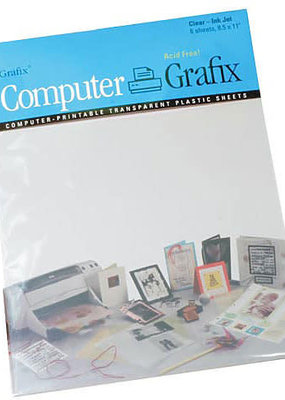 "Grafix Inkjet Printable Film Clear 8.5"" x 11"""