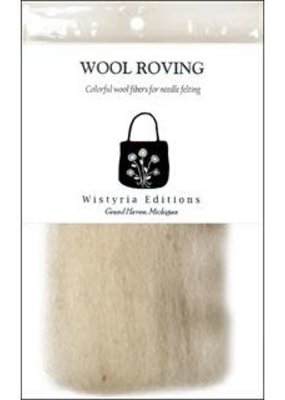 Wistyria Editions Wool Roving Single Pack Light Grey
