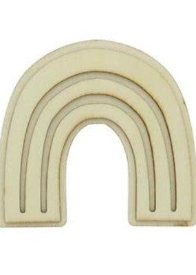 PA Essentials Unpainted Wood Shape Rainbow