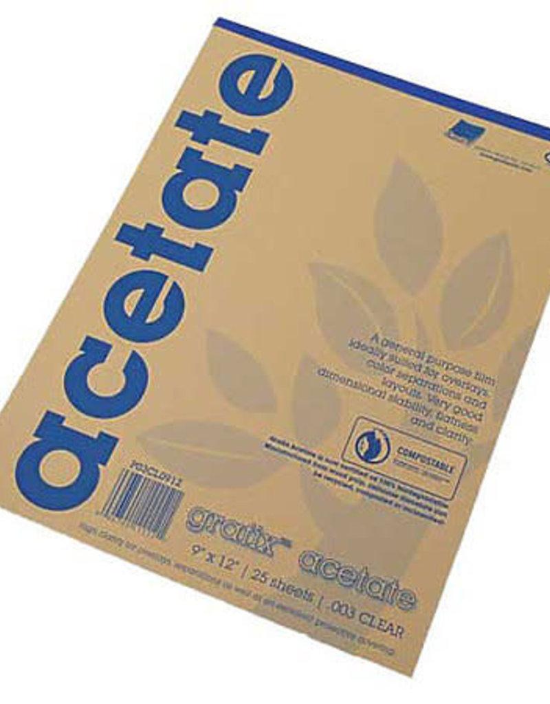Grafix Clear Acetate Film .005 9 X 12 Pad