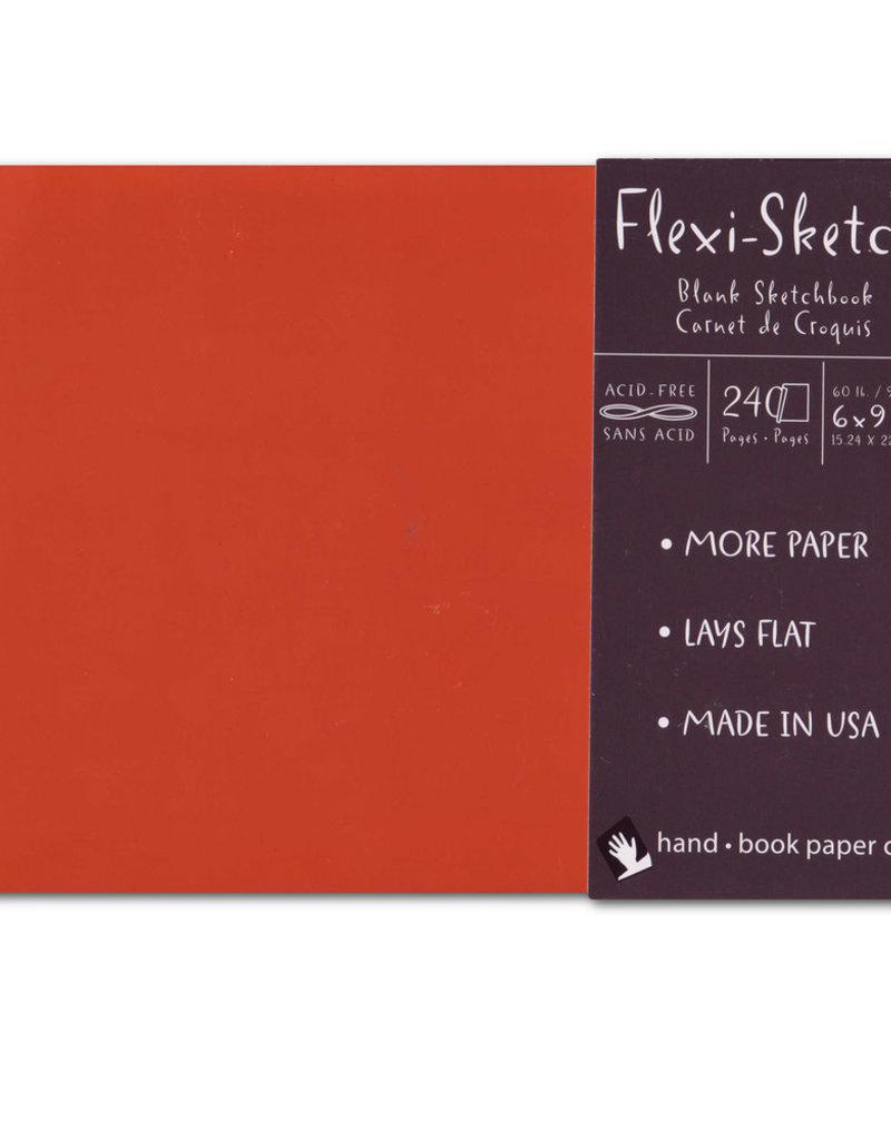 Global Art Flexi-Sketch Book 6 X 9 Mandarin