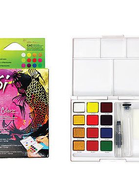 Sakura Koi Watercolor Field Sketch Set 12 Creative Colors