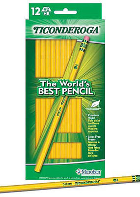 Dixon Ticonderoga Yellow #2 Pencil 12 Piece Box