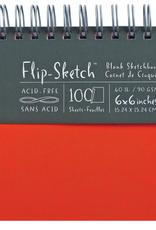 Global Art Flip-Sketch Sketch Books 6 X 6 Mandarin