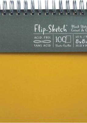 Global Art Flip-Sketch Sketch Books 8 X 8 Butternut