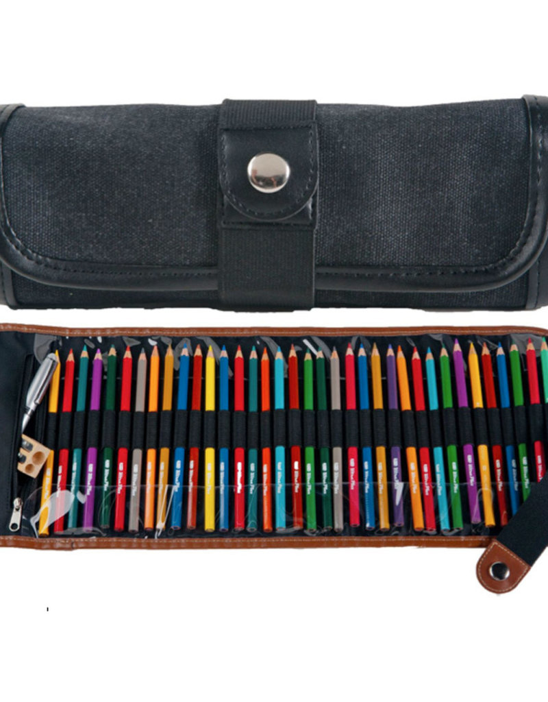 Global Art Canvas Pencil Roll up Black