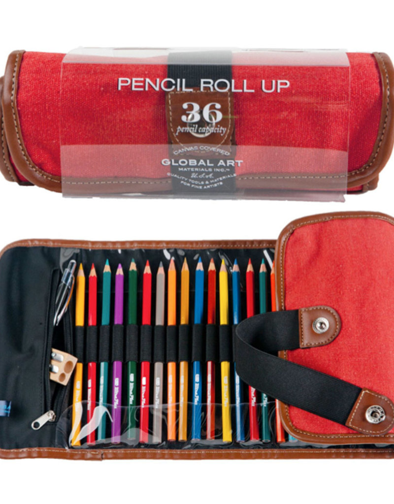 Global Art Canvas Pencil Roll up Rose