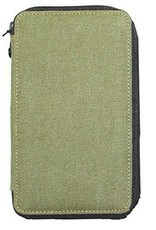 Global Art Canvas Pencil Zip Pouch Olive