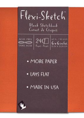 Global Art Flexi-Sketch Book  6 x 6 Mandarin