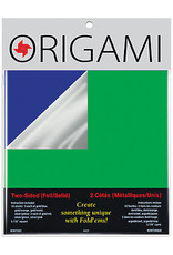 """Yasutomo Two-Sided Foil Origami Paper 5-7/8"""" Square"""