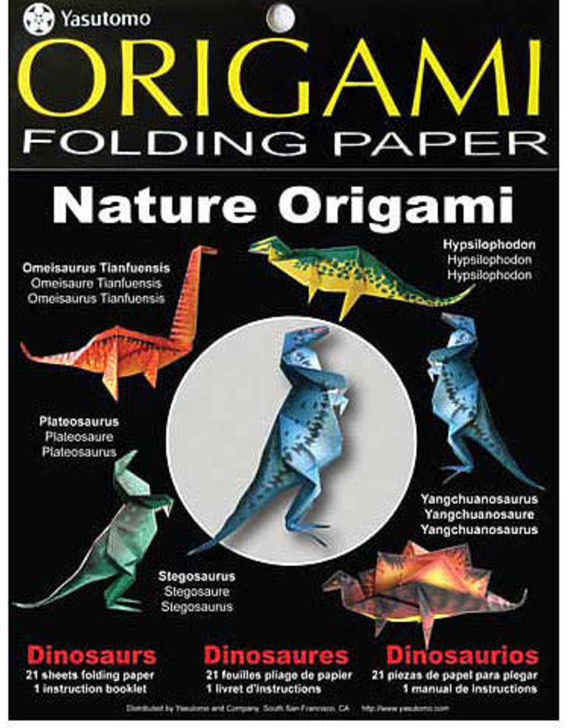 Yasutomo Fold ems Nature Origami Kits Dinosaurs 5-7/8 Square