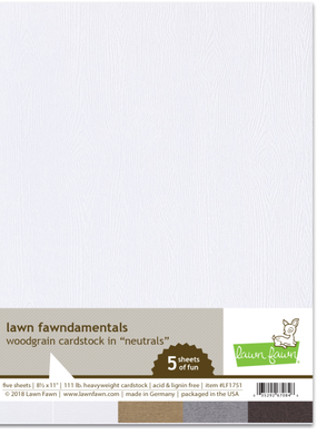 Cardstock Neutral Woodgrains 5 Piece
