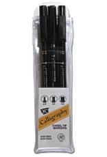 Yasutomo Calligraphy Marker Set 3 Sizes Black