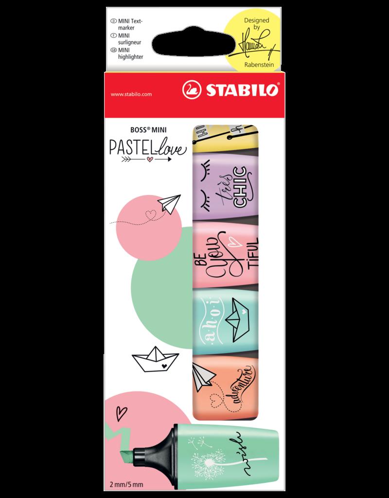Stabilo Boss Mini Pastellove Highlighter Set 6 Color